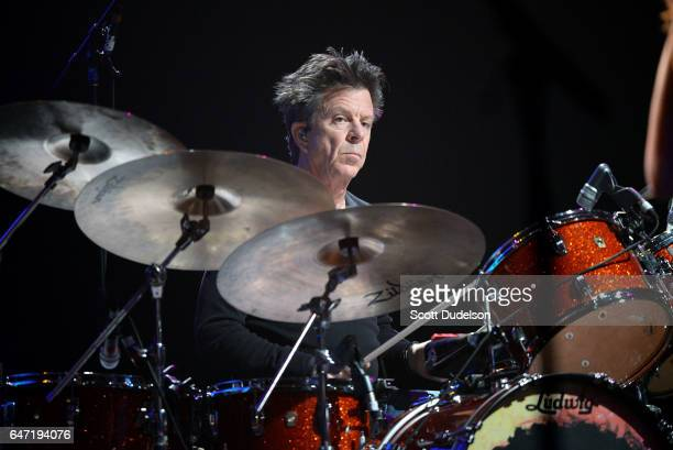 Rock and Roll Hall of Fame drummer Chris Layton of Double Trouble performs onstage during the Experience Hendrix concert at The Wiltern on March 1,...
