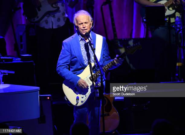 Rock and Roll Hall of Fame inductee Al Jardine founding member of The Beach Boys performs onstage during the 'Something Great from '68 Tour' at The...