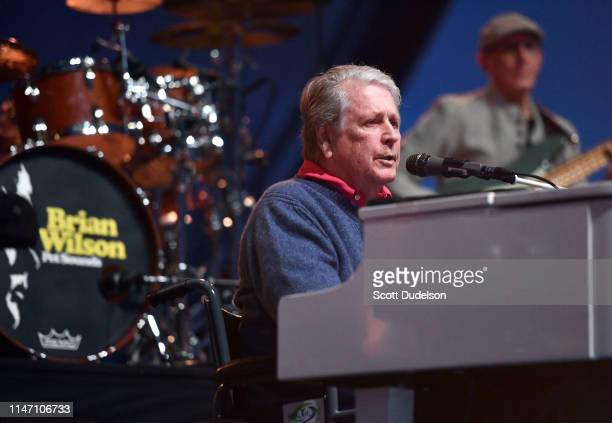 Rock and Roll Hall of Fame inductee Brian Wilson founding member of The Beach Boys performs onstage during Day 2 of the BeachLife Festival at Redondo...