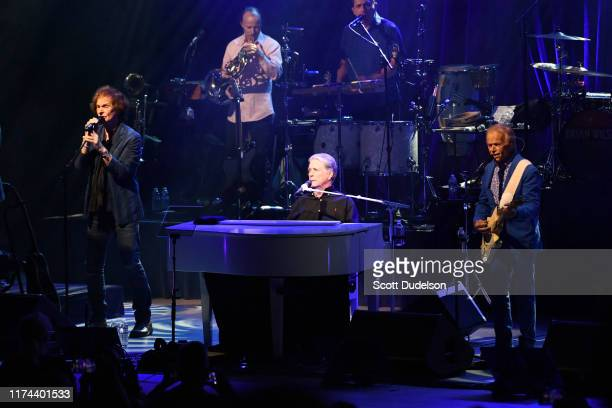 Rock and Roll Hall of Fame inductee Colin Blunstone of The Zombies performs onstage as special guest of Brian Wilson and Al Jardine of The Beach Boys...