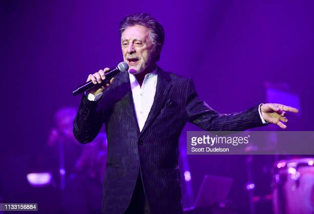 Rock and Roll Hall of Fame inductee Frankie Valli founding member of The Four Seasons performs onstage at Saban Theatre on March 01 2019 in Beverly...