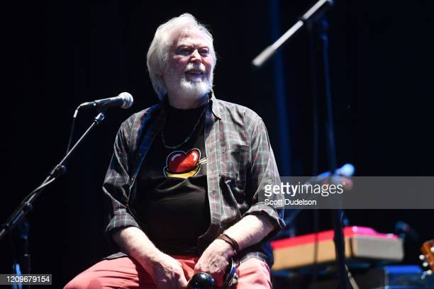 Rock and Roll Hall of Fame inductee Joe Butler, founding member of The Lovin' Spoonful, performs onstage during the Wild Honey Foundation's benefit...
