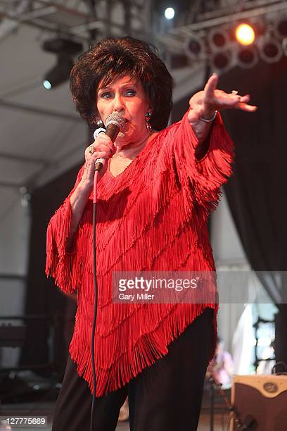 Rock and Roll Hall of Fame inductee Wanda Jackson performs during the 2011 Bonnaroo Music And Arts Festival on June 10 2011 in Manchester Tennessee
