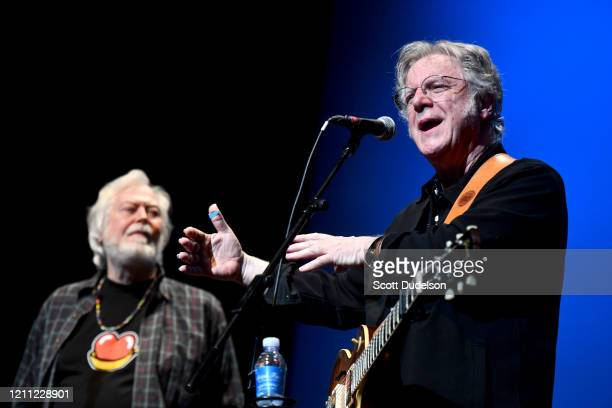 Rock and Roll Hall of Fame inductees Joe Butler and John Sebastian, founding members of The Lovin' Spoonful, performs onstage during the Wild Honey...