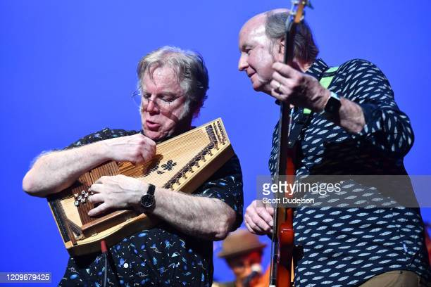 Rock and Roll Hall of Fame inductees John Sebastian and Steve Boone, founding members of The Lovin' Spoonful, perform onstage for their first show in...