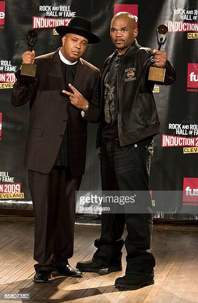Rock and Roll Hall of Fame Inductees Joseph 'Reverend RUN' Simmons and Darryl 'DMC' McDaniels of RUNDMC attend the press room during the 24th Annual...