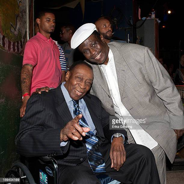 """Rock and Roll Hall of Fame member Dave Bartholomew and Al """"Carnival Time"""" Johnson gather backstage during """"My Lil' Darlin': An HBO Treme All Star..."""