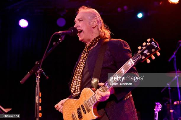 Rock and Roll Hall of Fame member Dave Davies cofounder of The Kinks performs onstage during the opening of his 2018 USA tour at The Roxy on February...
