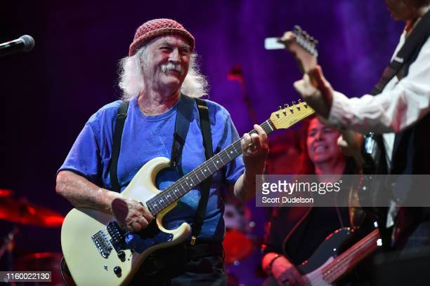Rock and Roll Hall of Fame member David Crosby, founding member of The Byrds and Crosby, Stills and Nash, performs onstage during the California Saga...