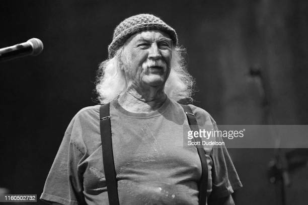 Rock and Roll Hall of Fame member David Crosby, founding member of The Byrds and Crosby Stills and Nash performs onstage during the California Saga 2...