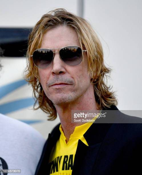 Rock and Roll Hall of Fame member Duff McKagan founding member of Guns N' Roses attends the Johnny Ramone Tribute and Screening of Barbarella at...