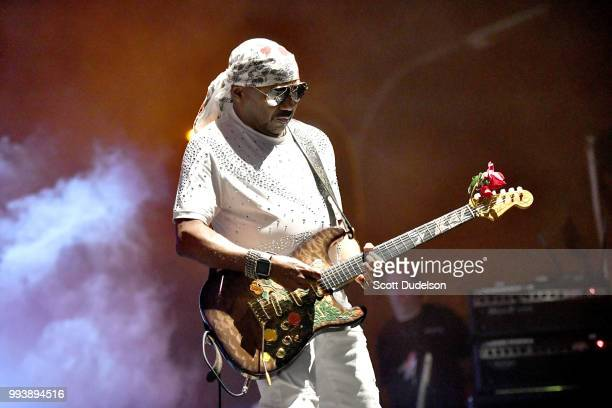 Rock and Roll Hall of Fame member Ernie Isley of The Isley Brothers performs onstage during the Summertime in the LBC music festival on July 7 2018...