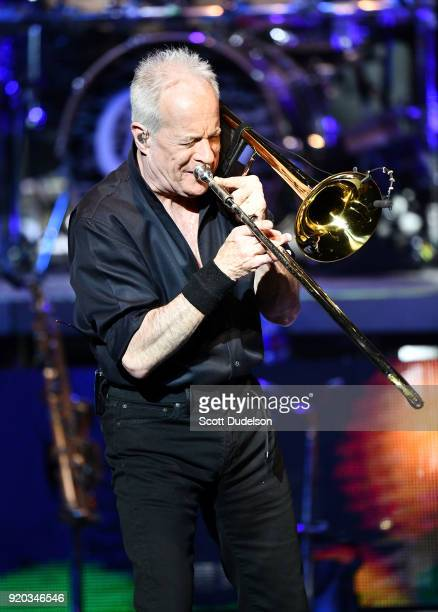 Rock and Roll Hall of Fame member James Pankow cofounder of the band Chicago performs onstage at the Thousand Oaks Civic Arts Plaza on February 18...