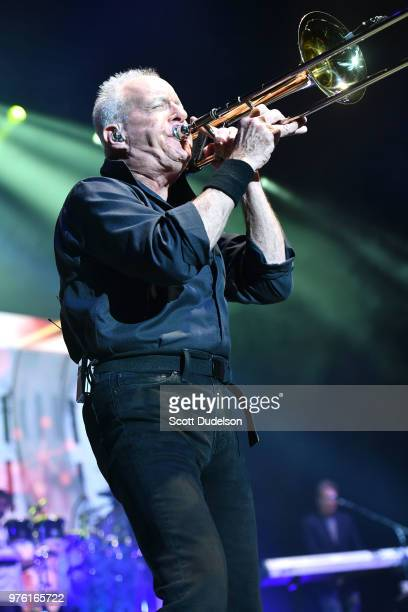 Rock and Roll Hall of Fame member James Pankow founding member of the classic rock band Chicago performs onstage at The Forum on June 15 2018 in...