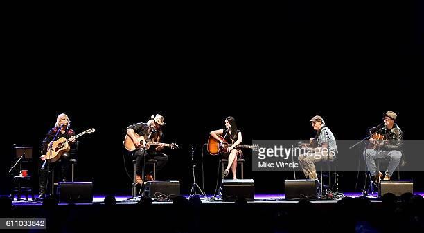 Rock and Roll Hall of Fame member Joe Walsh Singer Chris Stapleton Singer Kacey Musgraves Rock and Roll Hall of Fame member James Taylor and Country...