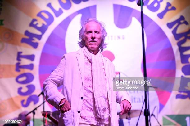 Rock and Roll Hall of Fame member John Densmore founding member of The Doors performs onstage during the Medlock Krieger All Star Concert benefiting...