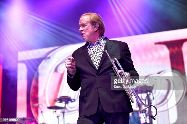 Rock and Roll Hall of Fame member Lee Loughnane founding member of the classic rock band Chicago performs onstage at The Forum on June 15 2018 in...