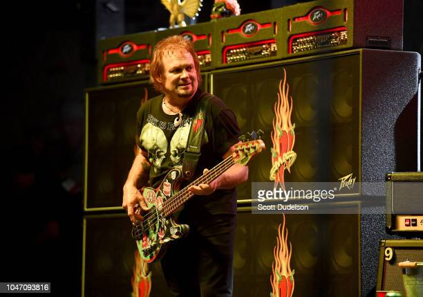 Rock and Roll Hall of Fame member Micahel Anthony founding member of Van Halen performs onstage during the 2018 High Tide Beach Party at Huntington...