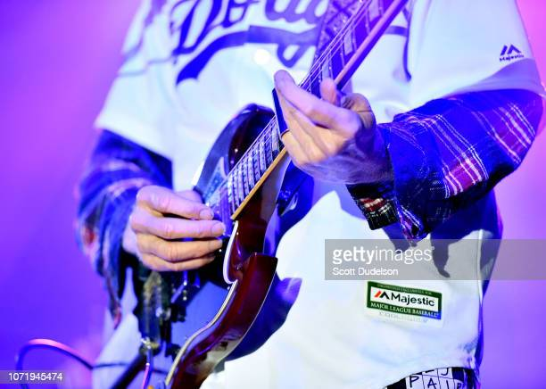 Rock and Roll Hall of Fame member Robby Krieger founding guitarist of The Doors performs onstage during the Medlock Krieger All Star Concert...