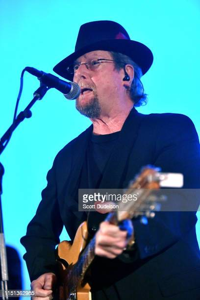 Rock and Roll Hall of Fame member Roger McGuinn, founding member of The Byrds, performs onstage during the premiere of 'Echo in the Canyon' at...