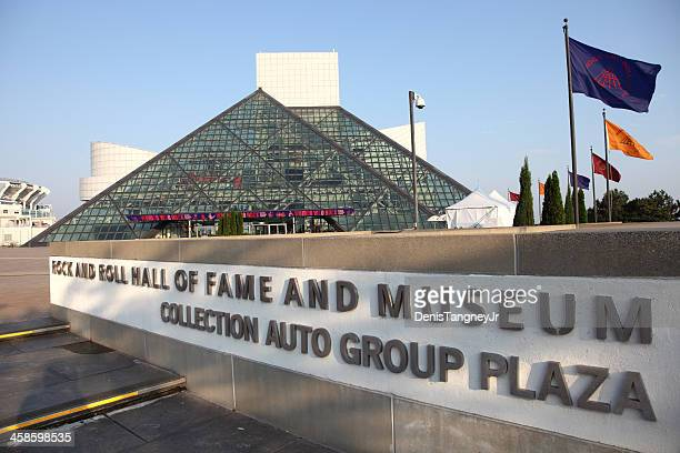 rock and roll hall of fame - rock and roll hall of fame cleveland stock photos and pictures