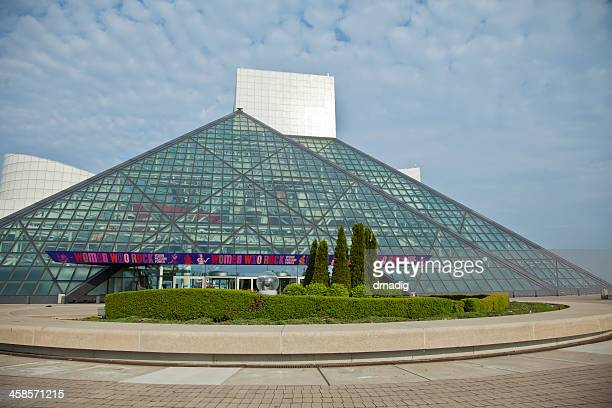 "rock and roll hall of fame ""women who rock"" banner - rock and roll hall of fame cleveland stock photos and pictures"
