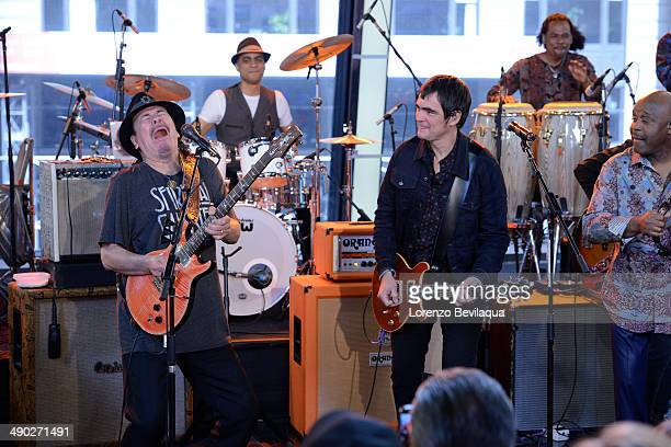 AMERICA Rock and Roll Hall of Famer Carlos Santana and his band perform on GOOD MORNING AMERICA Wednesday May 14 airing on the ABC Television Network