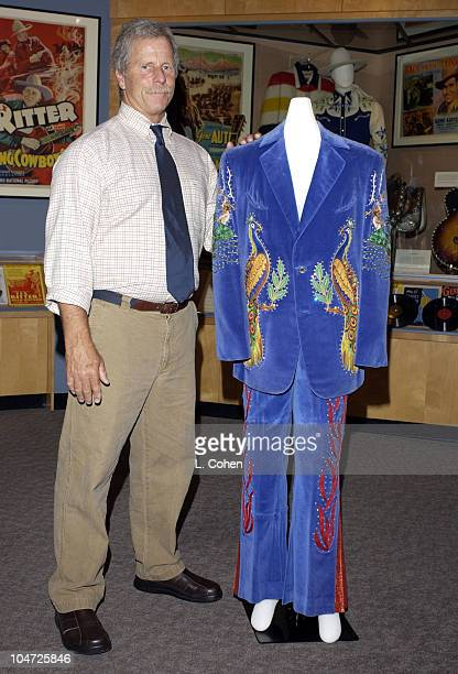 Rock and Roll Hall of Famer Chris Hillman of The Byrds donates one of the original Nudie suits he wore during his Flying Burrito Brothers days to the...