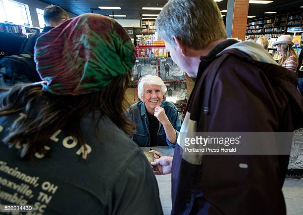Rock and Roll Hall of Famer Graham Nash signs autographs during an appearance at Bull Moose in Scaborough for Record Store Day on Saturday Graham...
