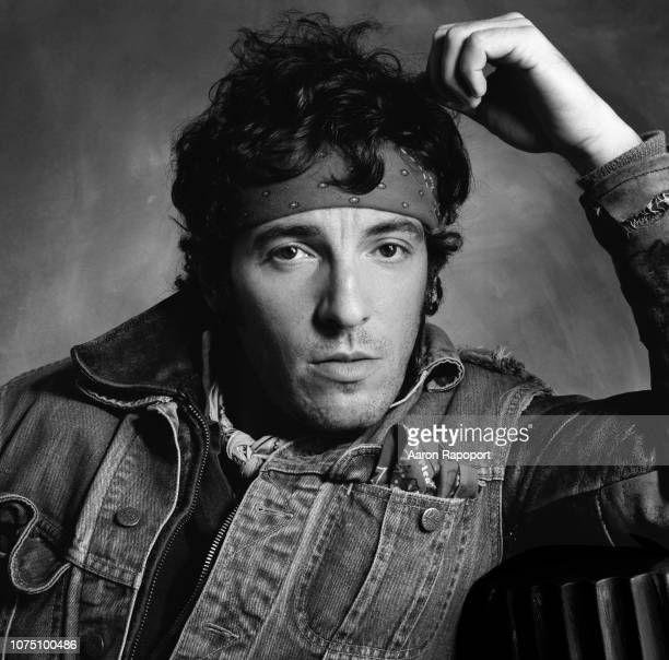 Rock and roll legend Bruce Springsteen poses for a portrait in December 1984 in Los Angeles California