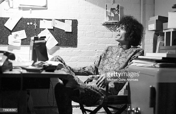 Rock and roll musician Al Kooper at the Cafe Au Go Go on November 21 1967 in New York New York