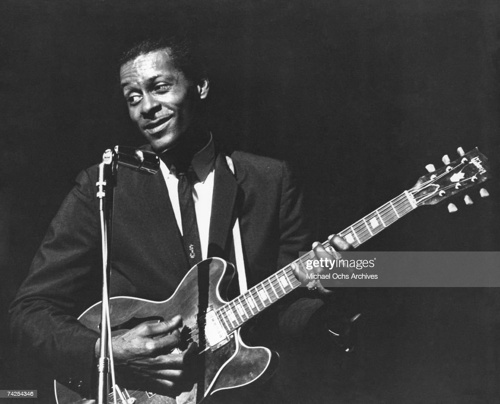 Chuck Berry Performing : News Photo