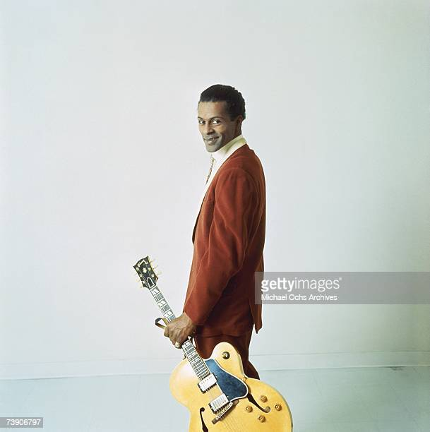 Rock and roll musician Chuck Berry poses for a portrait session in circa 1960 in Chicago Illinois
