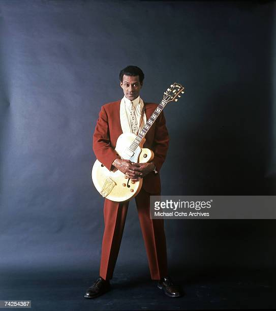 Rock and roll musician Chuck Berry poses for a portrait session in circa 1958 in Chicago Illinois