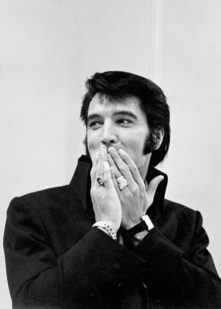 Rock and roll musician Elvis Presley