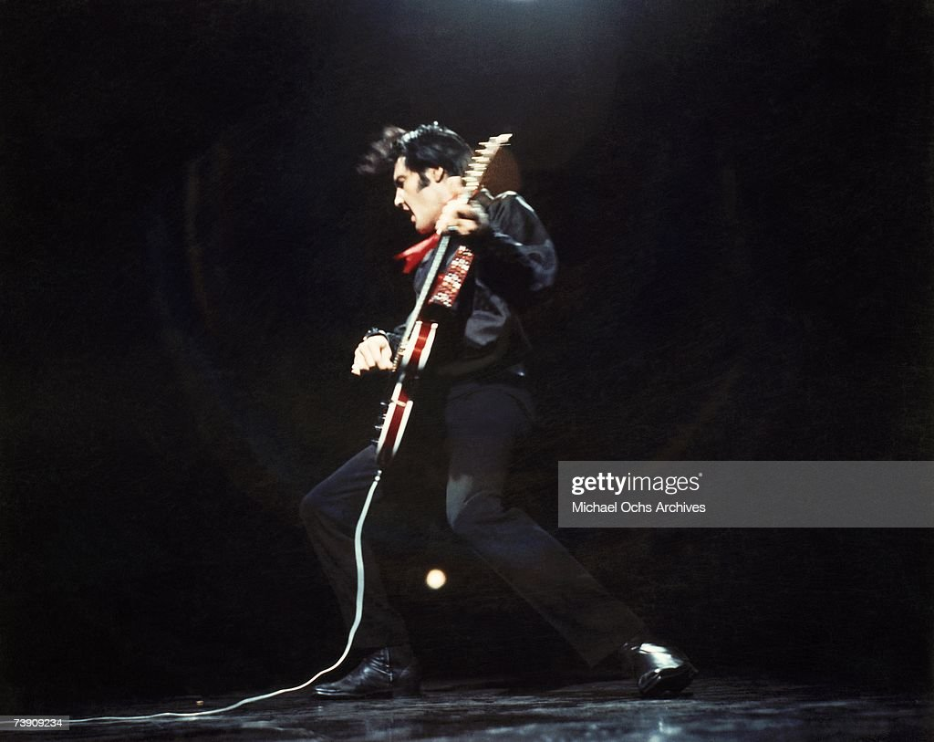 Rock and roll musician Elvis Presley ... : News Photo