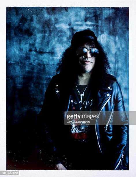 Rock and roll musician Slash is photographed on polaroid film at ComicCon International 2015 for Los Angeles Times on July 9 2015 in San Diego...