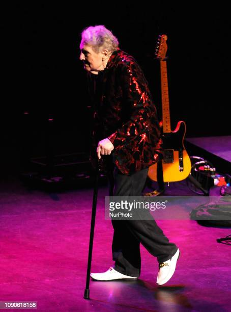 Rock and roll pioneer Jerry Lee Lewis departs the stage after performing with his band on January 27 2019 at the Van Wezel Performing Arts Hall in...