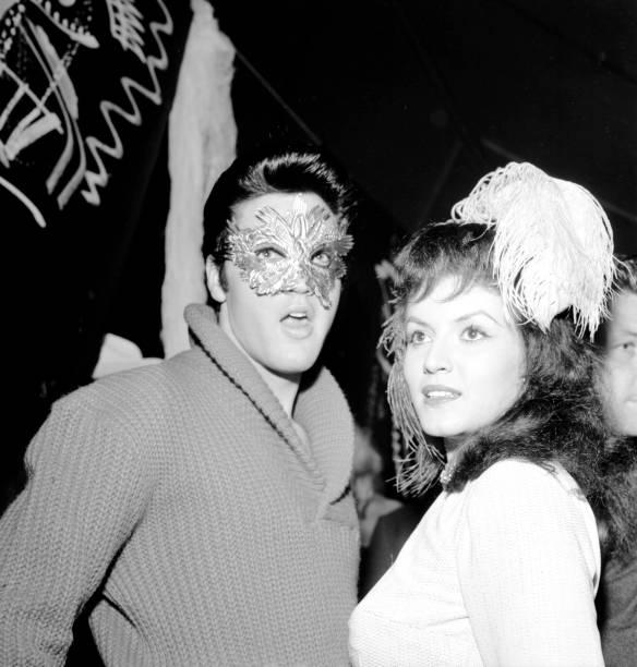 Elvis Presley and Joan Bradshaw on Halloween