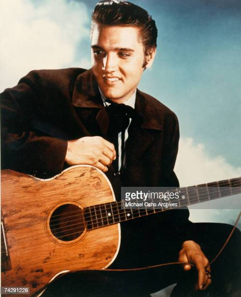 Rock and roll singer Elvis Presley during the filming of 'Love Me Tender' in Los Angeles CA