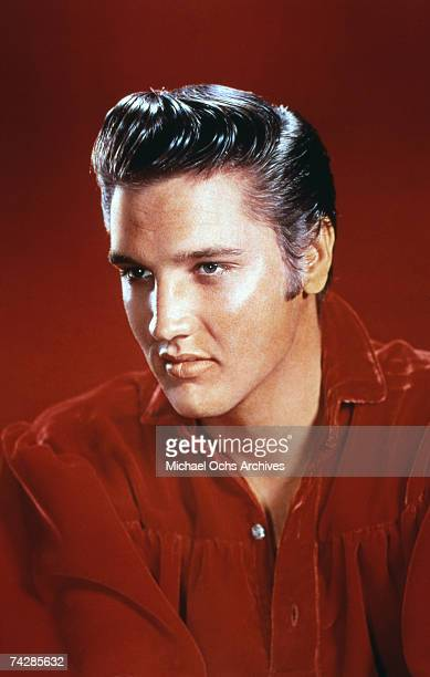 Rock and roll singer Elvis Presley poses for a portrait in 1956 in Memphis Tennessee
