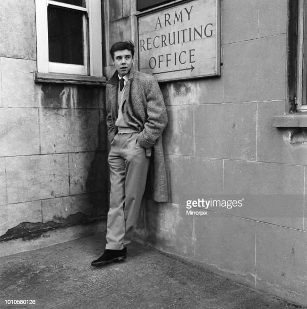 Rock and Roll singer Marty Wilde took his National Service medical at the medical centre in Lea Road South East London 3rd February 1959