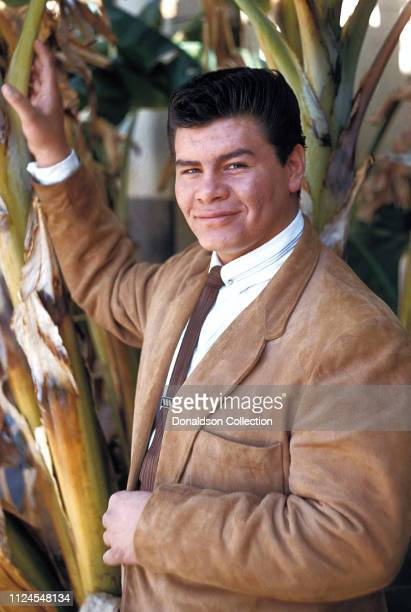 Rock and Roll singer Ritchie Valens poses for a photo during the filming of 'Go Johnny Go' on January 20 1959 in Los Angeles California