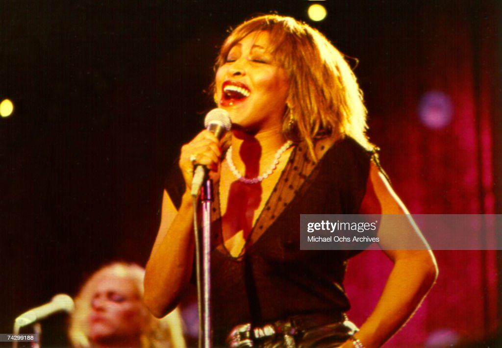 Tina Turner Performs On A TV Show : News Photo