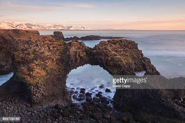 Rock arch at Arnastapi in Iceland
