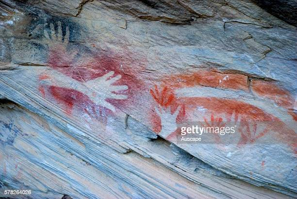 Rock art at the Tombs a sacred area used as a burial site by the Aboriginal inhabitants of the region Vandals and grave robbers had desecrated the...