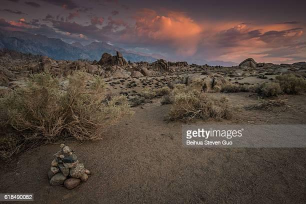 Rock Art in the Alabama Hills at Sunrise, Eastern Sierra Nevada