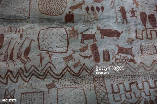 Rock art is seen at the Chiribiquete National Park Colombia on Monday July 2 2018 The United Nations announced that the 27 million hectaacres of...