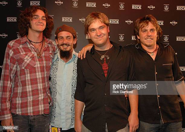 Rock Band 40 points including Micah Nelson and Lukas Nelson both are Willie's sons 40 Points arrive on The Green Carprt at The Launch of the...
