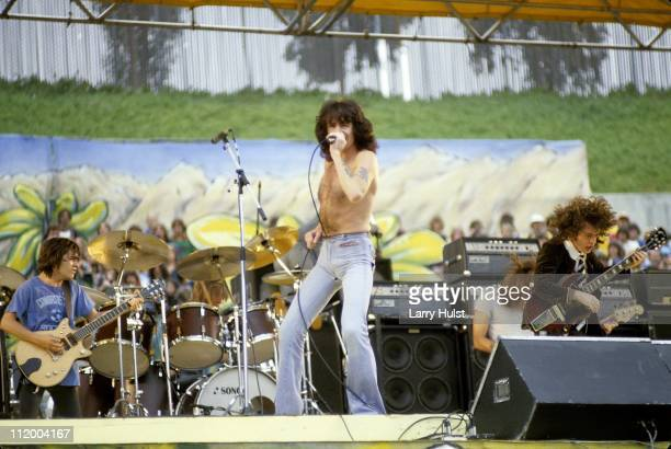 Rock band AC/DC performs at the Oakland Coliseum in Oakland California in July 21 1979